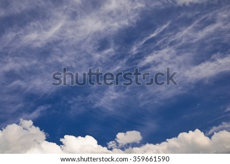 Sky with dramatic clouds/Dramatic cloudscape/Sky with dramatic clouds - stock photo