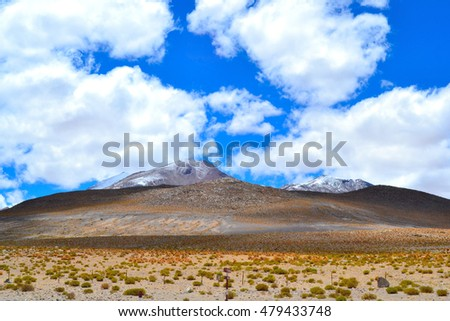 Sky with Mountain in Bolivia