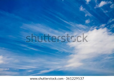 sky with partly clouds