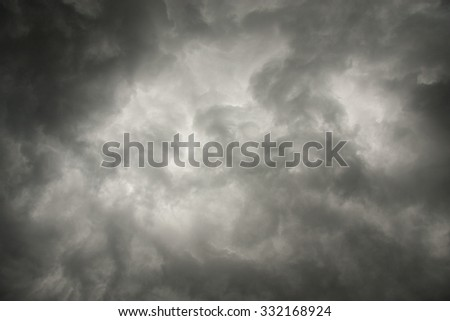 sky with storm clouds background - stock photo