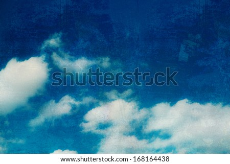 Sky with texture - stock photo