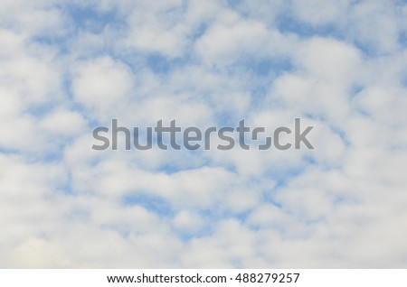 sky with white cloud