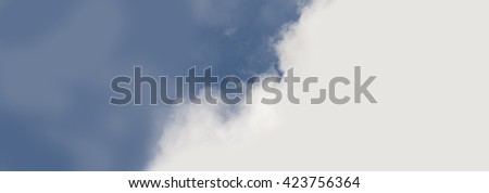 Sky with white clouds, as background, texture, poster