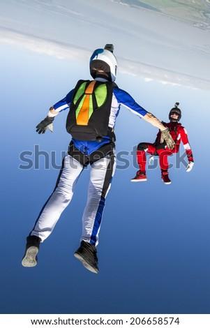 Skydiving photo. - stock photo