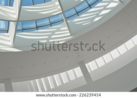 Skylight as an Indoor Architectural Design Element  - stock photo