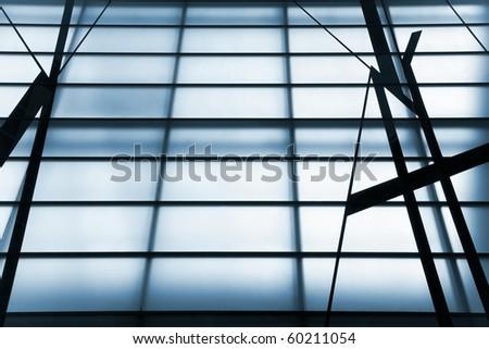 Skylight detail. Copy space frames like a background - stock photo