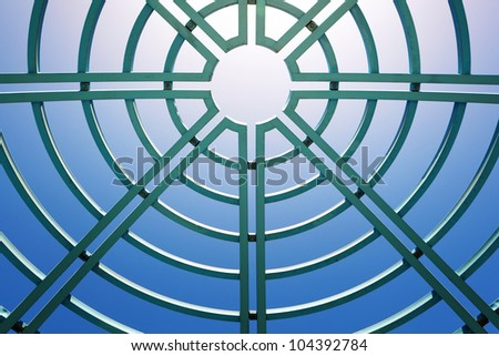 Skylight of the ceiling - stock photo