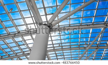 Skylight window or abstract architectural background. Architectu