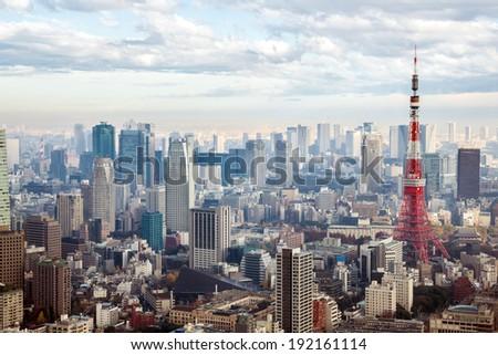 skyline in Japan - stock photo