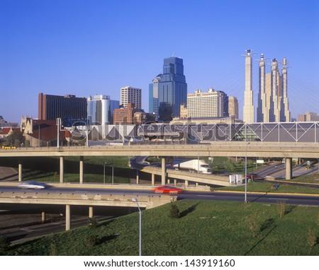 Skyline, Kansas City, MO - stock photo