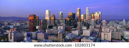 Skyline, Los Angeles, California - stock photo