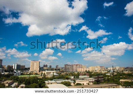 Skyline of Baku during summer day