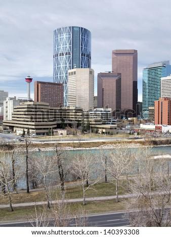 Skyline of Calgary, Alberta, Canada.  - stock photo