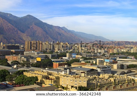 Skyline of Caracas city, capital city of Venezuela. - stock photo