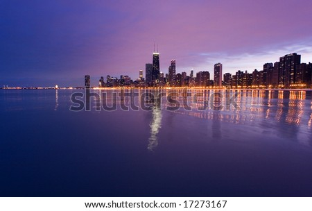 SKyline of Chicago - stock photo