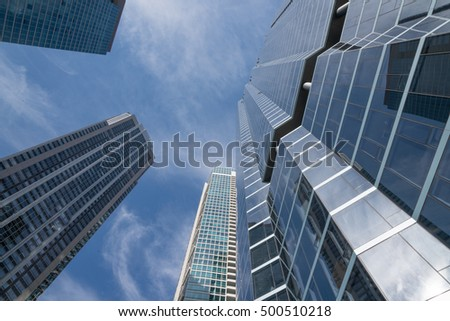 Skyline of city skyscrapers