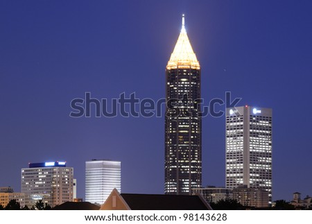 Skyline of Downtown Atlanta - stock photo