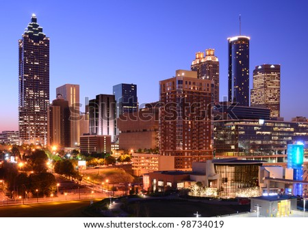 Skyline of downtown Atlanta, Georgia