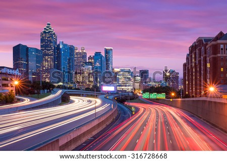 Skyline of Downtown Atlanta, Georgia USA  - stock photo