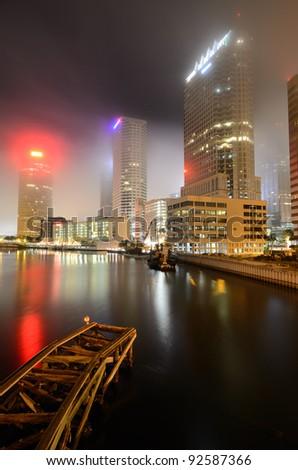 skyline of downtown Tampa, Florida - stock photo