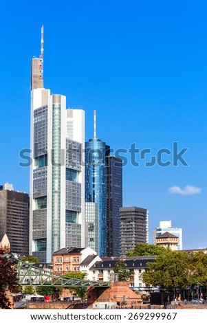 Skyline of Frankfurt am Main, Germany