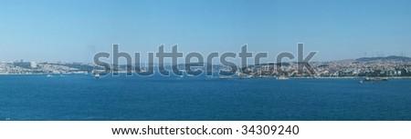 skyline of istanbul, turkey - stock photo