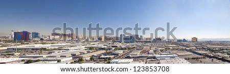 Skyline of Las Vegas City, Nevada, USA - stock photo