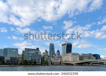 Skyline of London, England. - stock photo
