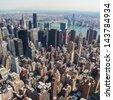 Skyline of Manhattan in New York City, United States (square)  - stock photo