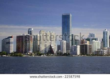 Skyline of Miami, Florida with Offices and apartments