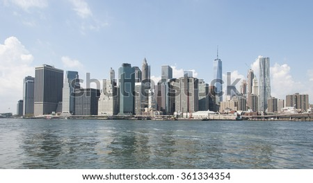 Skyline of New York. - stock photo