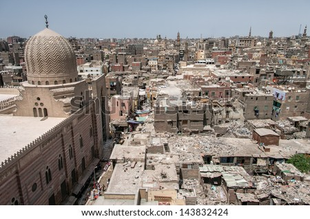 Skyline of old Cairo