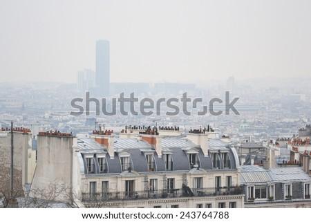 Skyline of Paris city, France. - stock photo