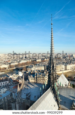 Skyline of Paris from Notre Dame