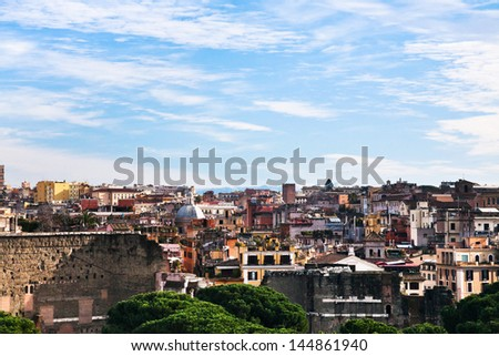 skyline of Rome from Capitoline Hill, Italy