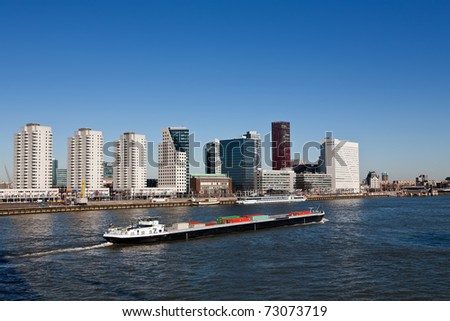 Skyline of Rotterdam - stock photo
