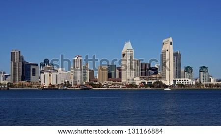 Skyline of San Diego, California - stock photo