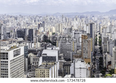 Skyline of Sao Paulo, Brazil - Latin America - stock photo