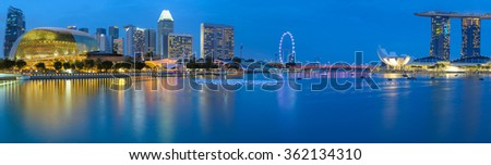 skyline of singapore at marina bay