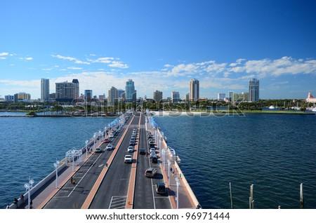 Skyline of St. Petersburg, Florida - stock photo