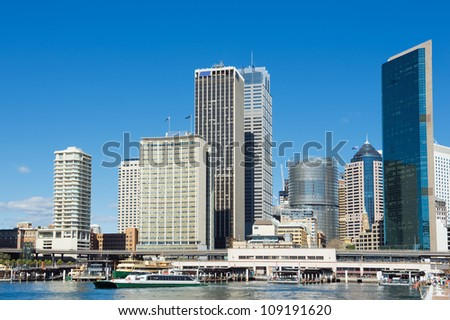 skyline of Sydney with city central business district at the noon