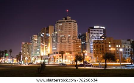 Skyline of Tel Aviv, Israel. - stock photo