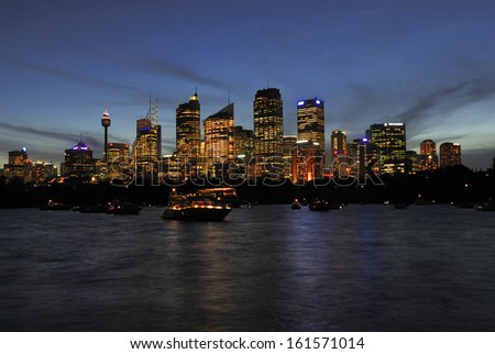 Skyline Sydney, blue hour