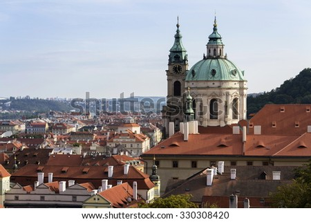 Skyline view of Prague, capital of the Czech republic