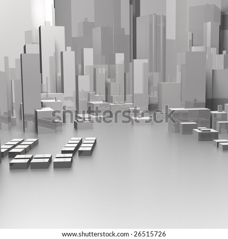 skyline zoom - stock photo
