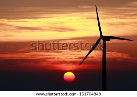 Skyscape with cloud and sun during changeing time of day - stock photo