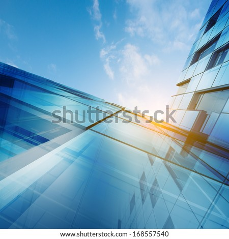 Skyscraper abstract concept. Building design and 3d model my own - stock photo