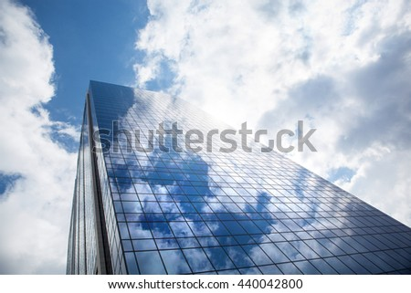 Skyscraper against blue sky