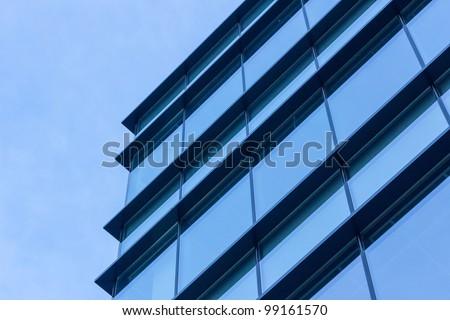 skyscraper background - stock photo