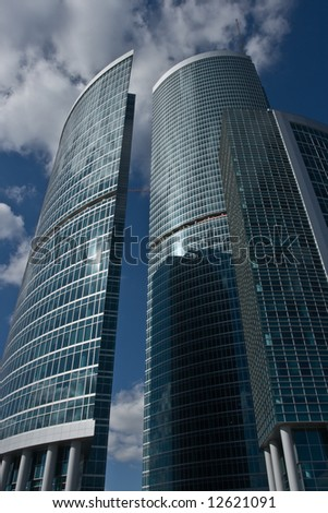 skyscraper building in city Moscow